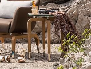 Smania Tahiti Teak Garden Side Table