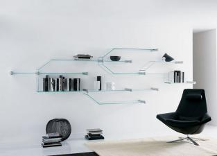 Tonelli Transistor Glass Wall Shelves