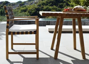 Tribu Vis A Vis Square Garden Table