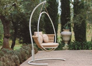Weave Garden Swing Chair with Base