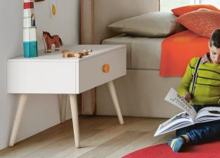 Battistella Woody Bedside Table with Legs