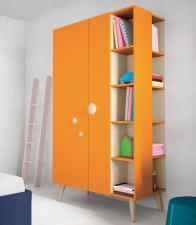 Battistella Woody Wardrobe with Exposed Shelves