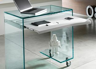 Tonelli Work-Box Glass Desk