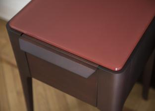 Porada Ziggy Glass Bedside Table